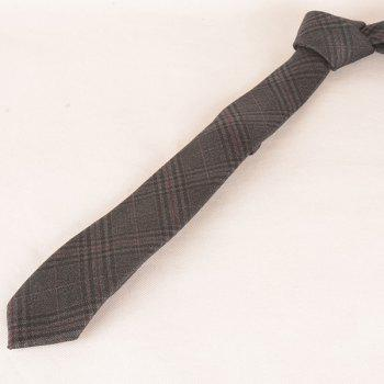 Tiny Plaid Formal Neck Tie - DEEP GRAY
