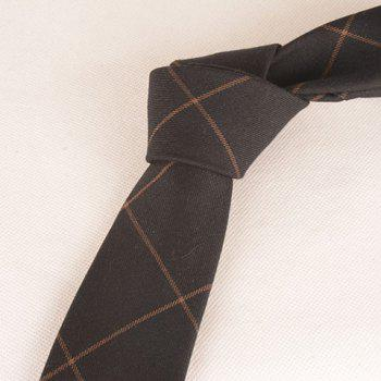 Anti Wrinkle Plaid Neck Tie -  COFFEE