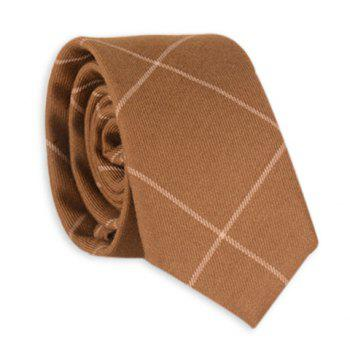 Anti Wrinkle Plaid Neck Tie