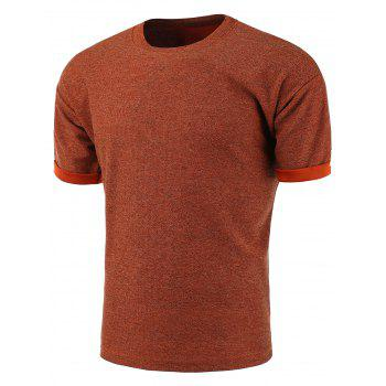 Rolled Cuff Crew Neck T-Shirt