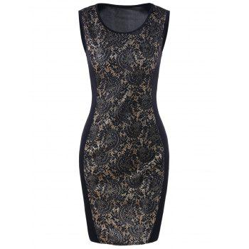Lace Trim Tank Bodycon Dress