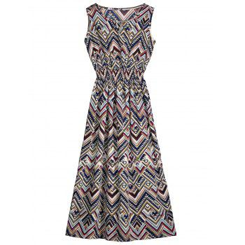 Cut Out Zigzag Sleeveless Dress