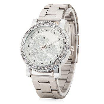 Rhinestone Quartz Leopard Pattern Watch