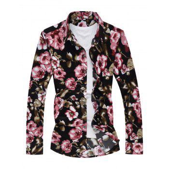 Long Sleeve Shirt with Floral Print