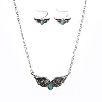 Faux Turquoise Wings Jewelry Set