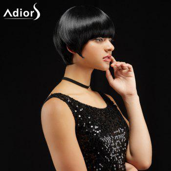 Adiors Short Silky Straight Neat Bang Synthetic Wig