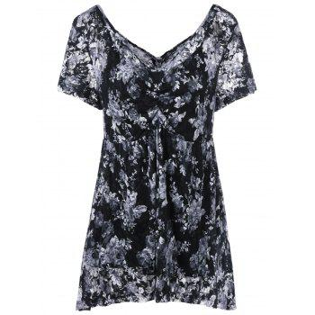 17 Off 2019 Plus Size Empire Waist Floral Blouse With