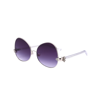 Faux Pearl Handheld Metallic Oversized Sunglasses