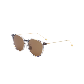 Butterfly Frame Mirrored Sunglasses with Skinny Leg