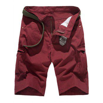 Zip Fly Pockets Design Cargo Shorts