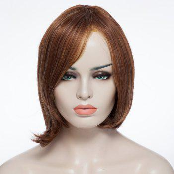 Stylish Shaggy Short Synthetic Centre Parting Capless Blonde Brown Mixed Women's Wig