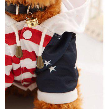 Habillé Étoile Stripe Sweatshirt Teddy Toy Dog - Brun Clair STAND 30CM