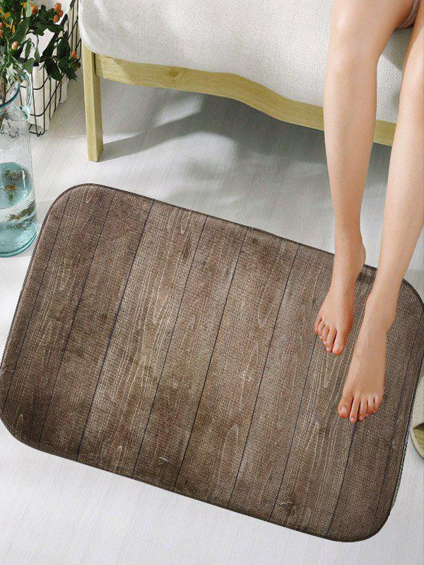 Wood Grain Skid Resistant Flannel Bath Mat цена 2017