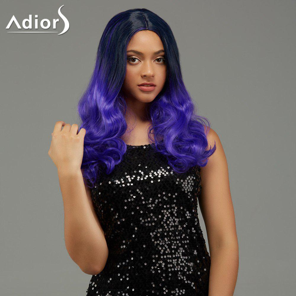 Adiors Long Wavy Centre Parting Gradient Capless Synthetic Wig centre speaker
