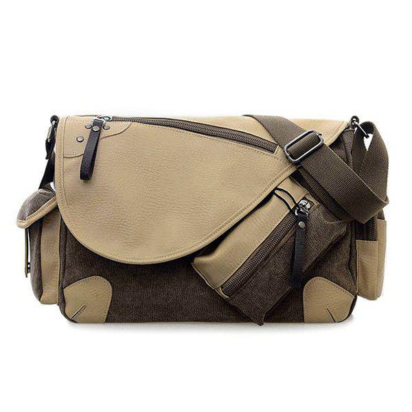 FlapPU Insert Messenger Bag - GRAY