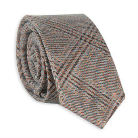 Tiny Plaid Formal Neck Tie - GRAY