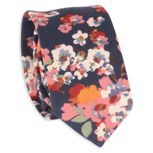 Vintage Tiny Bouquet Printing Neck Tie - CADETBLUE