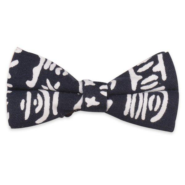 Pictogram Printed Bow Tie - CADETBLUE