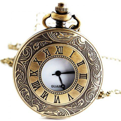 Roman Numerals Vintage Pocket Watch - COPPER COLOR