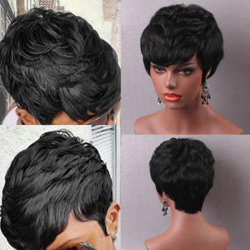 Short Straight Layered Hairstyle Capless Human Hair Wig