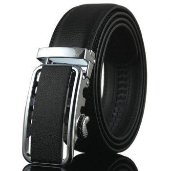 Metal Rectangle Buckle Artificial Leather Belt