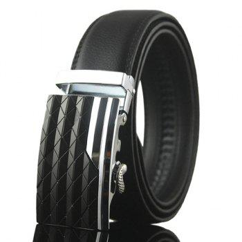 Rhombus Stripe Auto Buckle Belt