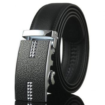Tiny Plaid Rectangle Auto Buckle Belt