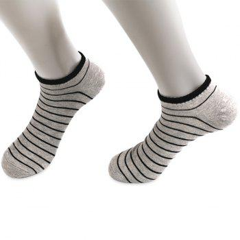 Knitted Pinstripe Elastic Ankle Socks