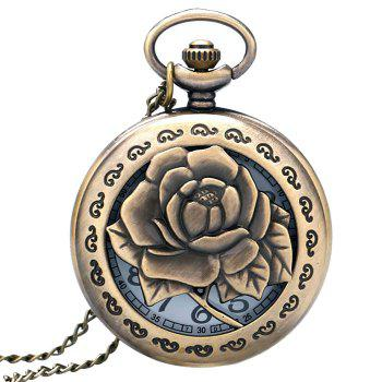 Rose Flower Vintage Pocket Watch