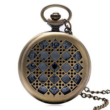 Hollowed Dice Vintage Pocket Watch