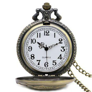 Fishing Carving Vintage Pocket Watch - COPPER COLOR