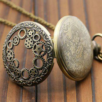 Hollowed Gear Vintage Pocket Watch - BRONZE COLORED