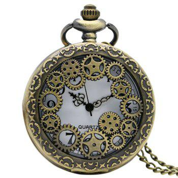 Hollowed Gear Vintage Pocket Watch
