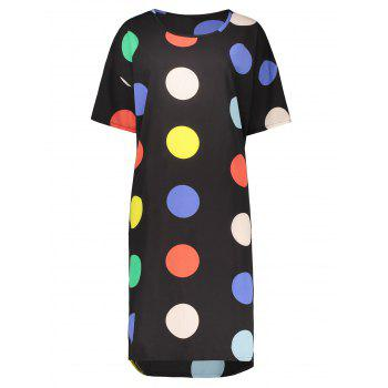 Polka Dot Plus Size Chiffon Dress