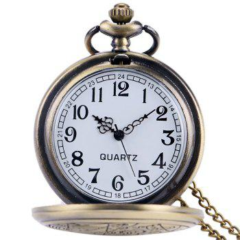 Nombre Sculpté Vintage Pocket Watch - Cuivre