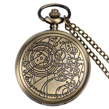 Carved Number Vintage Pocket Watch - COPPER COLOR COPPER COLOR