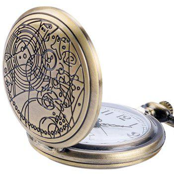 Carved Number Vintage Pocket Watch -  COPPER COLOR
