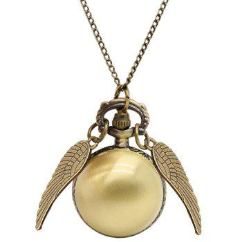 Ball Pocket Watch with Wings - BRONZE-COLORED BRONZE COLORED