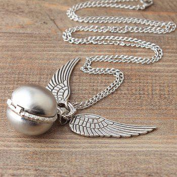 Ball Pocket Watch with Wings -  SILVER