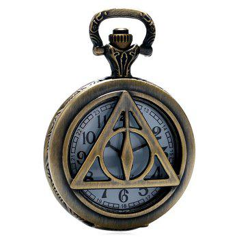 Hollowed Triangle Vintage Pocket Watch - Cuivre