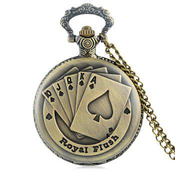 Royal Flush Vintage Pocket Watch - COPPER COLOR COPPER COLOR
