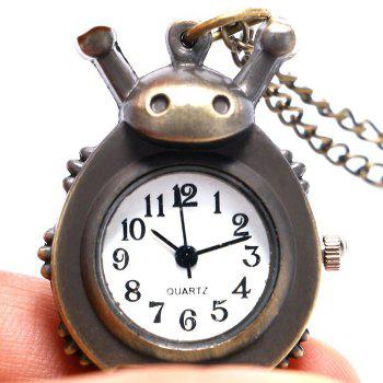 Laybird Shape Vintage Pocket Watch -  BLACK