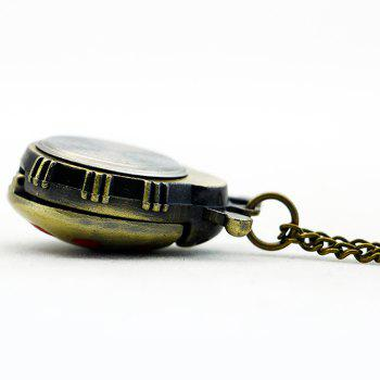 Laybird Shape Vintage Pocket Watch -  RED