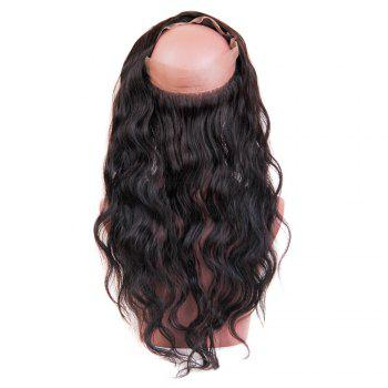 Long Centre Parting Wavy Lace Frontal Human Hair 360 Lace Wig with Baby Hair - NATURAL COLOR 18INCH
