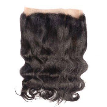 Long Middle Parting Wavy Lace Frontal Human Hair 360 Lace Wig with Baby Hair - NATURAL COLOR 18INCH