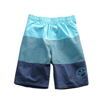 Drawstring Waist Stripe Board Shorts