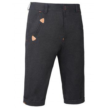 Straight Zipper Fly Casual Shorts