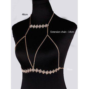 Geometric Hanging Neck Bra Chain Bikini Body Jewelry -  GOLDEN