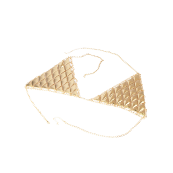 Triangle Bra Beach Bikini Body Jewelry -  GOLDEN