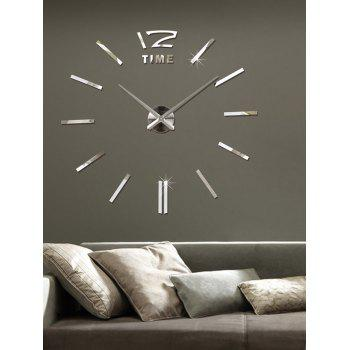 DIY Mirror Wall Sticker Clock For Living Room Decor